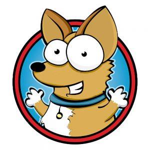 TM1756 cartoon dog blue collar