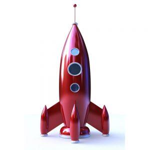 TM1757 retro red rocket