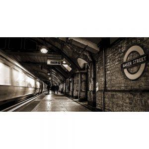TM2560 baker street underground london sepia