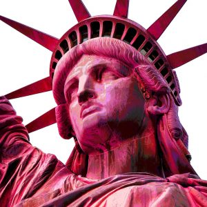 TM2603 statue of20liberty pink