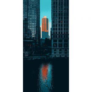 TM2609 new york skyscraper orange