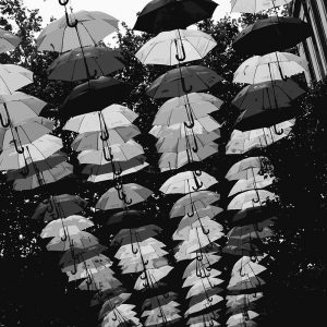 TM2781 liverpool street umbrellas mono