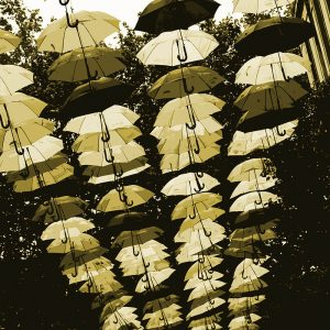 TM2782 liverpool street umbrellas cream