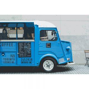 TM2809 retro coffee van blue
