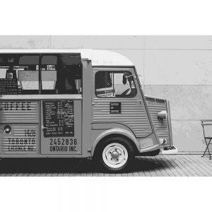 TM2810 retro coffee van mono