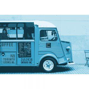TM2811 retro coffee van bright blue