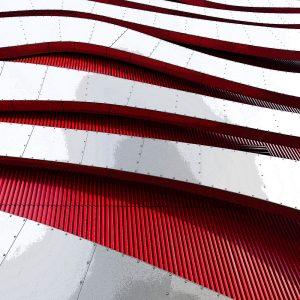 TM2859 modern building cladding red