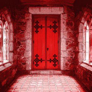 TM2877 classic old door bright red