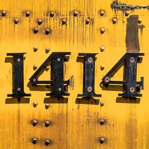 TM2951 yellow numbers train