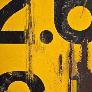 TM2971 numbers yellow distressed background