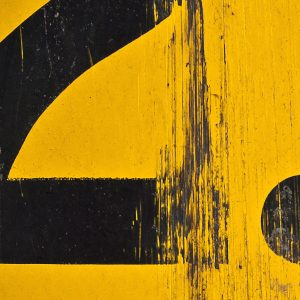 TM2972 numbers yellow distressed background detail