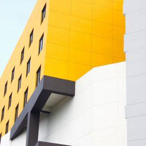 TM2977 yellow modern building