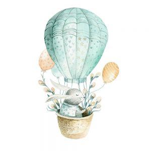 SG2678 rabbit boho image balloon basket