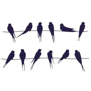 SG2771 sitting swallow bird silhouette
