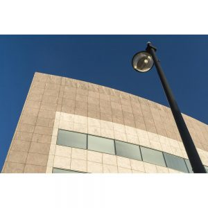SG2934 building fascia lamp post cardiff bay wales