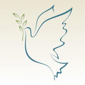 SG3104 peace dove olive branch keyline
