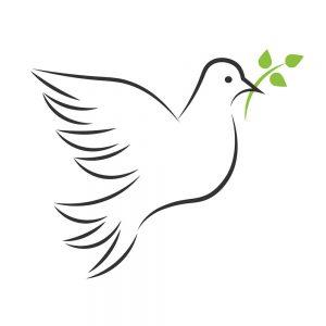 SG3106 peace dove olive branch keyline