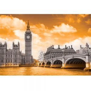 SG3828 london uk cityscape black white orange
