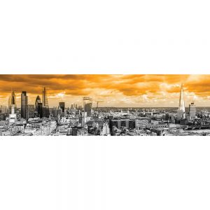 SG3831 london uk cityscape black white orange